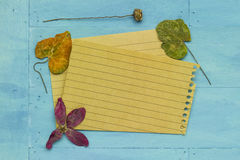 Empty paper with decoration Stock Photo