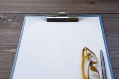 Empty paper on a desk Stock Photos