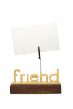 Empty paper on memo holder. Isolated Stock Photography