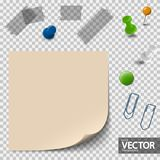 empty paper with office accessories stock illustration
