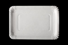 Empty paper plate Royalty Free Stock Photography
