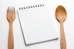 Empty paper for recipe Stock Image