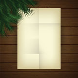 Empty paper sheet. New Year and Christmas theme. Royalty Free Stock Image