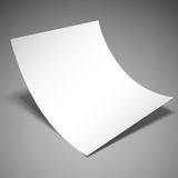 Empty Paper Sheet. Empty white paper sheet on grey background Royalty Free Stock Image
