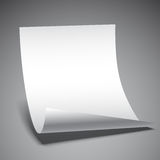 Empty Paper Sheet. Empty white paper sheet on grey background Royalty Free Stock Photo