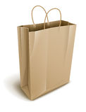 Empty paper shopping. Vector illustration  on white background Royalty Free Stock Photography