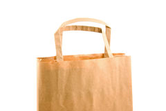 Empty paper shopping bag Stock Photo