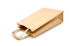 Empty paper shopping bag Royalty Free Stock Images