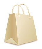 Empty paper shopping bag Royalty Free Stock Photo