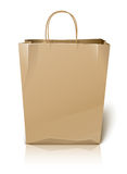 Empty paper shopping bag Stock Photos