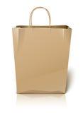 Empty paper shopping bag Stock Photos