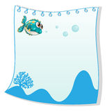 An empty paper template with a fish. Illustration of an empty paper template with a fish on a white background Stock Photo