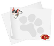 Empty paper templates with a dog Royalty Free Stock Photography