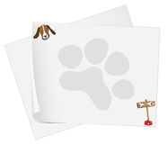 Empty paper templates with a head of a dog Royalty Free Stock Photography