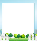 An empty paper with trees at the bottom Stock Photography