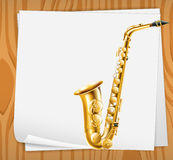 An empty paper with a trombone Stock Photo