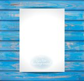 Empty paper on the wooden vintage background. Vector Mockup. Blank template for placing your design vector illustration