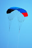 Empty parachute in the sky. Space for text Royalty Free Stock Photo