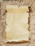 Empty parchment Royalty Free Stock Image
