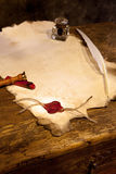 Empty parchment Stock Photo