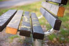 Empty park bench Stock Photography