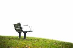 Empty park bench Stock Photos