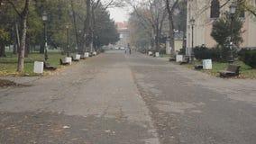 Empty park stock footage