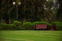 Empty park, Dubai Stock Photo