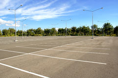 Empty parking Royalty Free Stock Photo