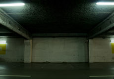Empty parking. Of cars in an underground floor Royalty Free Stock Images