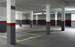 Empty parking Stock Photo