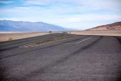 Empty parking area in Death Valley National Park stock photos