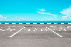 Empty parking area with sea Royalty Free Stock Image