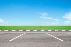 Empty parking area Royalty Free Stock Images