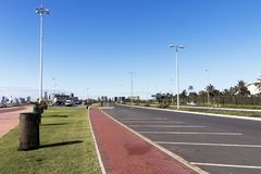 Beachfront Road Heading Towards Durban City Skyline Royalty Free Stock Image