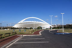 Empty Parking Bays in Front of Moses Mabhida Stadium royalty free stock photo