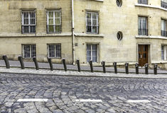 Empty parking of bicycles for rent in Paris Stock Images