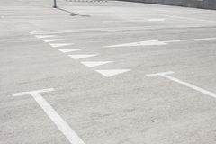 Empty parking for cars Royalty Free Stock Image