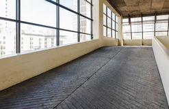 Empty parking deck with ramp Royalty Free Stock Images