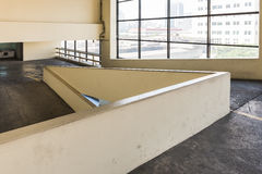 Empty parking deck with ramp Stock Photography