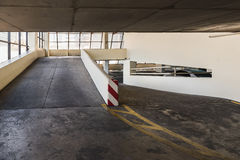 Empty parking deck with ramp Stock Photos