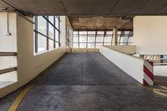 Empty parking deck with ramp Royalty Free Stock Photography