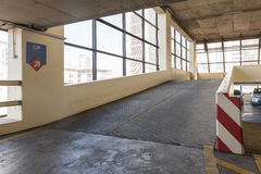 Empty parking deck with ramp i Stock Photo