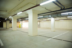 Empty parking Stock Images