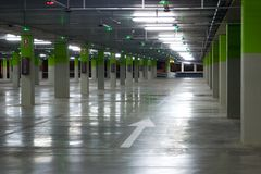 Empty Parking Garage Royalty Free Stock Image