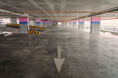 Empty parking garage on the building Stock Images