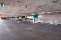 Empty parking garage on the building Stock Photo