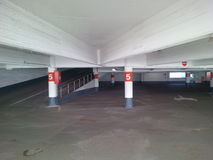 Empty parking garage. Creepy empty old concrete parking garage Royalty Free Stock Photography