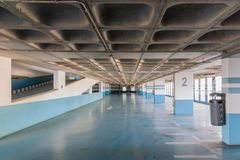Empty parking garage of Funchal, Madeira Royalty Free Stock Photo