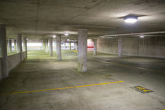 Empty Parking Garage in the Inner Harbor in Baltimore, Maryland royalty free stock photography